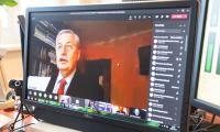 """Konferencja on-line """"Planowanie rozwoju gospodarczego regionu"""", fot. Mikołaj Kuras dla UMWKP"""