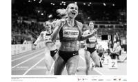 Justyna Święty-Erestic bije halowy rekord Polski na 400 m podczas meetingu Copernicus Cup, fot. Aleksandra Szmigiel