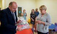 Nowy budynek oddziału przedszkolnego przy Szkole Podstawowej w Robakowie działa od kilku dni, fot. Łukasz Piecyk