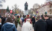 Uroczystość pod pomnikiem generała Hallera w Toruniu, fot. Łukasz Piecyk