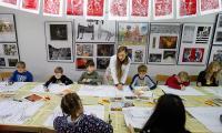 Zajęcia plastyczne w Galerii i Ośrodku Plastycznej Twórczości Dziecka, fot. Mikołaj Kuras
