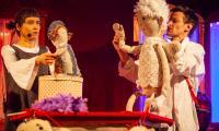 Szydełkowe jasełka w wykonaniu teatru Małe Mi w Kujawsko Pomorskim Centrum Kultury w Bydgoszczy, fot. Filip Kowalkowski