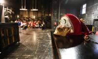 """Warsztaty """"Między Hamletem a Chórem Duchów"""" do spektaklu """"Hamlet"""" w reżyserii Pawła Paszty w Teatrze Horzycy, fot. Mikołaj Kuras"""