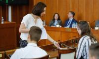 Finał Konkursu wiedzy o samorządzie terytorialnych dla gimnazjalistów, fot. Andrzej Goiński i Mikołaj Kuras