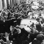 Powitanie armii niemieckiej przez Volksdeutschów, Grudziądz, wrzesień 1939 r. IPN