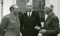 Marszałek Brook, W. Raczkiewicz i gen. K. Sosnkowski, Londyn październik 1943, fot. Archiwum Emigracji UMK