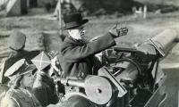 Prez. W. Raczkiewicz wizytuje stanowiska obrony przeciwlotniczej w Londynie,  29.01.1943, fot. Archiwum Emigracji UMK