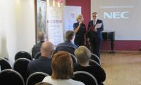 Inauguracja konferencji Przeciwdziałanie przemocy w rodzinie – działania skoncentrowane na współpracy, Włocławek, 3 czerwca 2016 r., fot. Komenda Miejska Policji we Włocławku