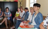 """Uczestnicy szkolenia """"Dialog motywujący w pracy z rodziną"""", Lipno 06-07.06.2016r. fot. Biuro Wsparcia Rodziny i Przeciwdziałania Przemocy"""