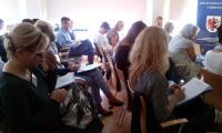 Uczestnicy szkolenia Przeciwdziałanie agresji i przemocy  w szkole, Toruń, 26.09.2016 r., fot. Biuro Wsparcia Rodziny i Przeciwdziałania Przemocy