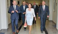 Marszałek Sejmu Małgorzata Kidawa-Błońska podczas wizyty w Urzędzie Marszałkowskim, fot. Jacek Piotrowski