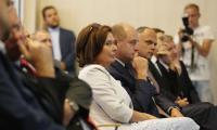 Marszałek Sejmu Małgorzata Kidawa-Błońska podczas wizyty w Urzędzie Marszałkowskim, fot. Mikołaj Kuras