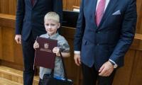 """Wręczenie nagród w konkursie """"Jan Paweł II – papież rodziny"""", fot. Andrzej Goiński"""