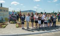 Uroczystość odsłonięcia tablicy na toruńskim lotnisku Aeroklubu Pomorskiego, upamiętniającej wizytę apostolską oraz mszę świętą odprawioną w tym miejscu przez św. Jana Pawła II 7 czerwca 1999 roku, fot. Szymon Zdziebło/Tarantoga.pl