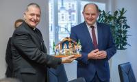 Spotkanie z bpem Arielem Edgardem Torrado Mosconim i ks. Basharem Fawadlehem, fot. Szymon Zdziebło/tarantoga.pl